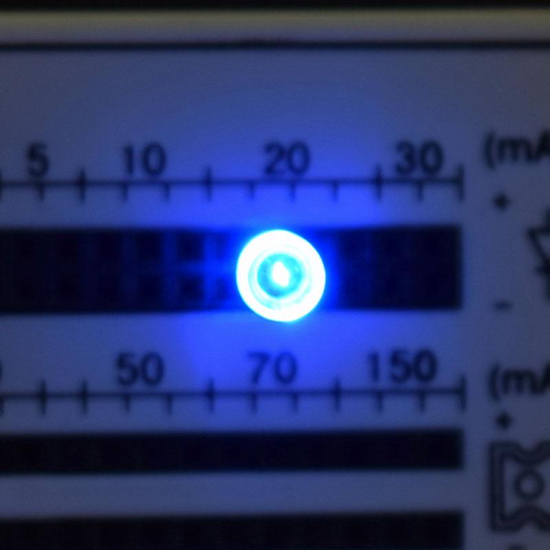 高輝度ブルー/5mmV型LED/100個