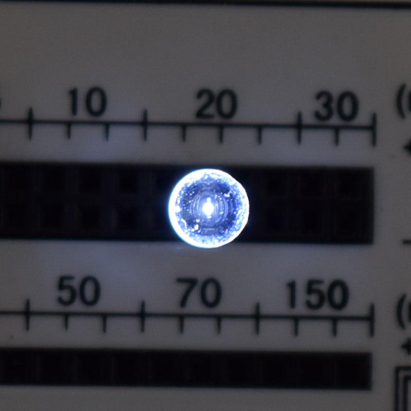 高輝度LED・ホワイト/5mmV型LED/100個