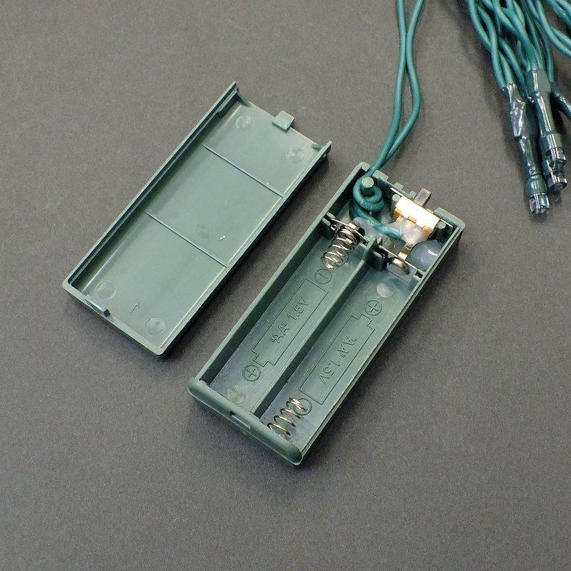 LEDストリングライト・電池式常点型・12球・ブルー・10本セット/LED-SL12B-BT