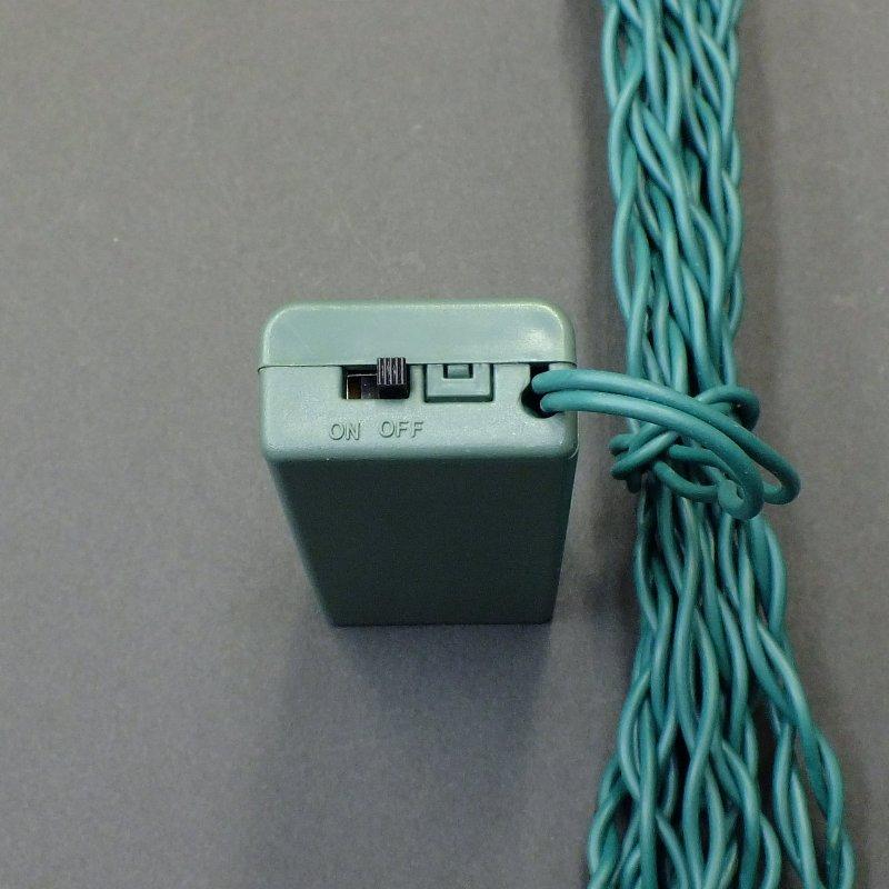 LEDストリングライト・電池式常点型・12球・ブルー/LED-SL12B-BT1