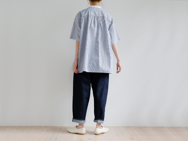 """休日と詩 バターミルクシャツ""""5分袖"""""""