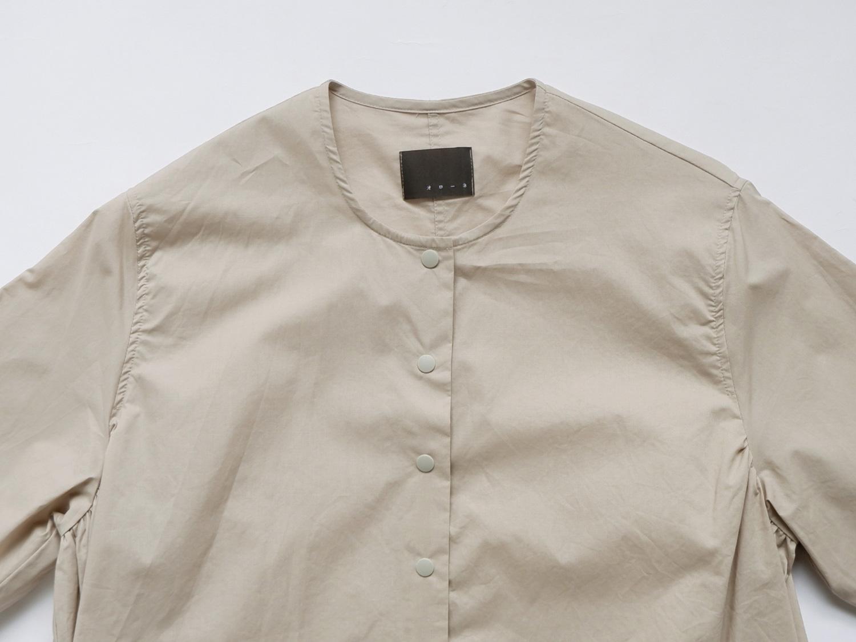 """オローネ ノーカラーパレットロングシャツ""""5分袖"""""""