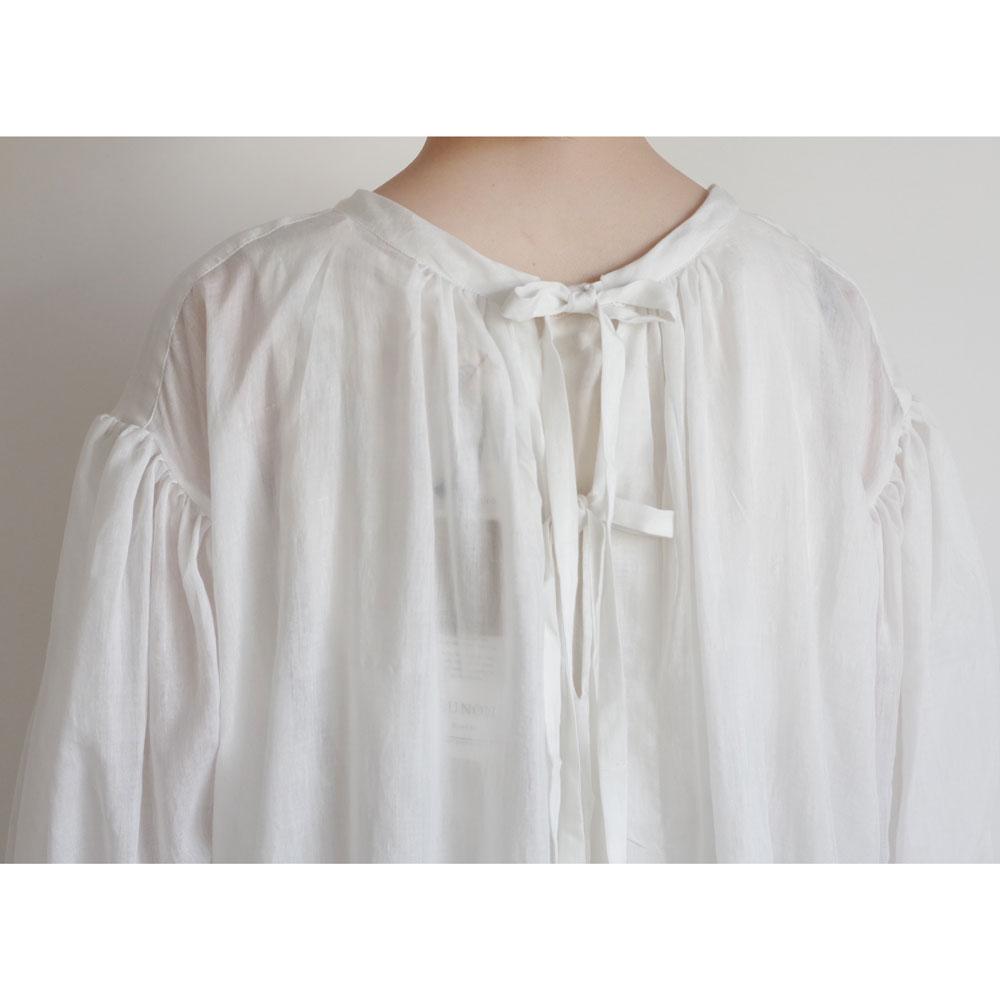 ブノン BUNON : Gather Dress ギャザードレス(オフホワイト)