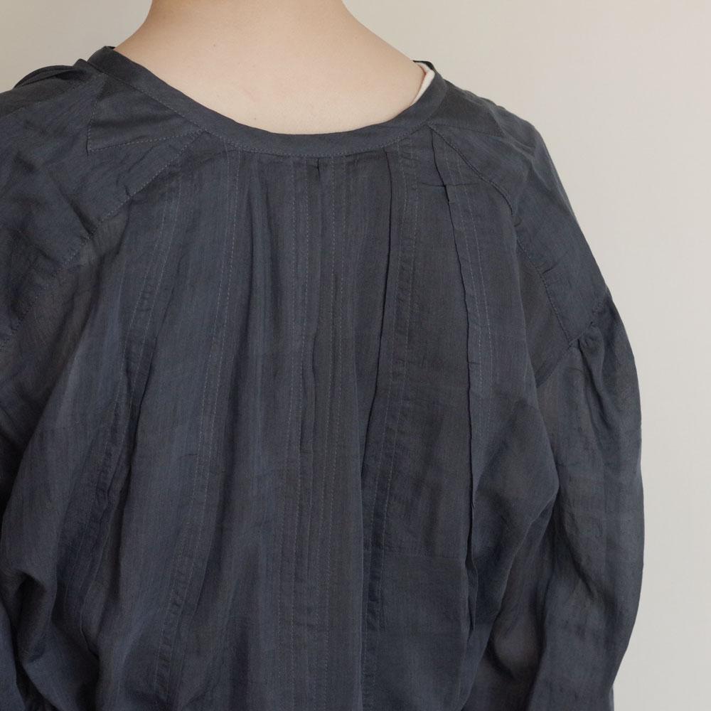 ブノン BUNON : Gather Tuck Dress ギャザータックドレス(ブル