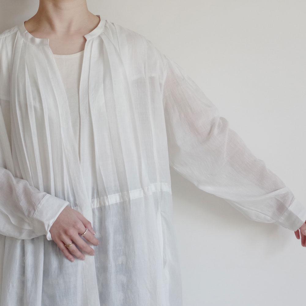 ブノン BUNON : Gather Tuck Dress ギャザータックドレス(オフホワイト)