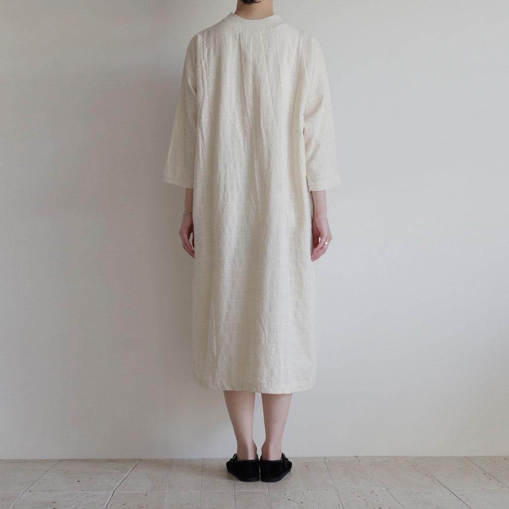 クロウ crow : organic cotton dress with patched yoke ヨーク切替ワンピース