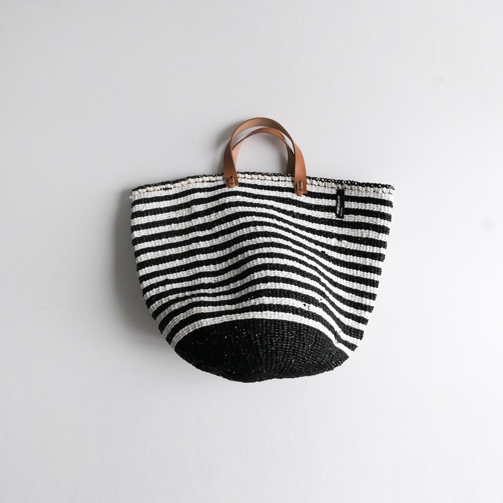 ミフコ Mifuko : サイザルトートバッグ(ボーダー)