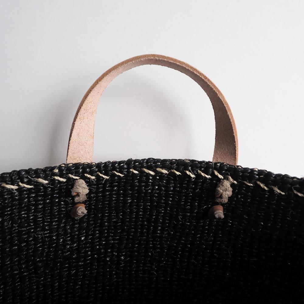 ミフコ Mifuko : サイザルトートバッグ(ブラック)