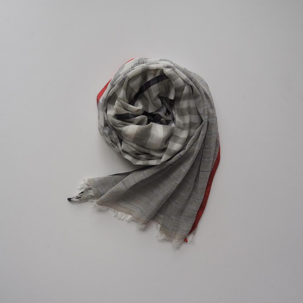 ネルークマール NEERU KUMAR :Cotton Scarves ボーダーコットンストール