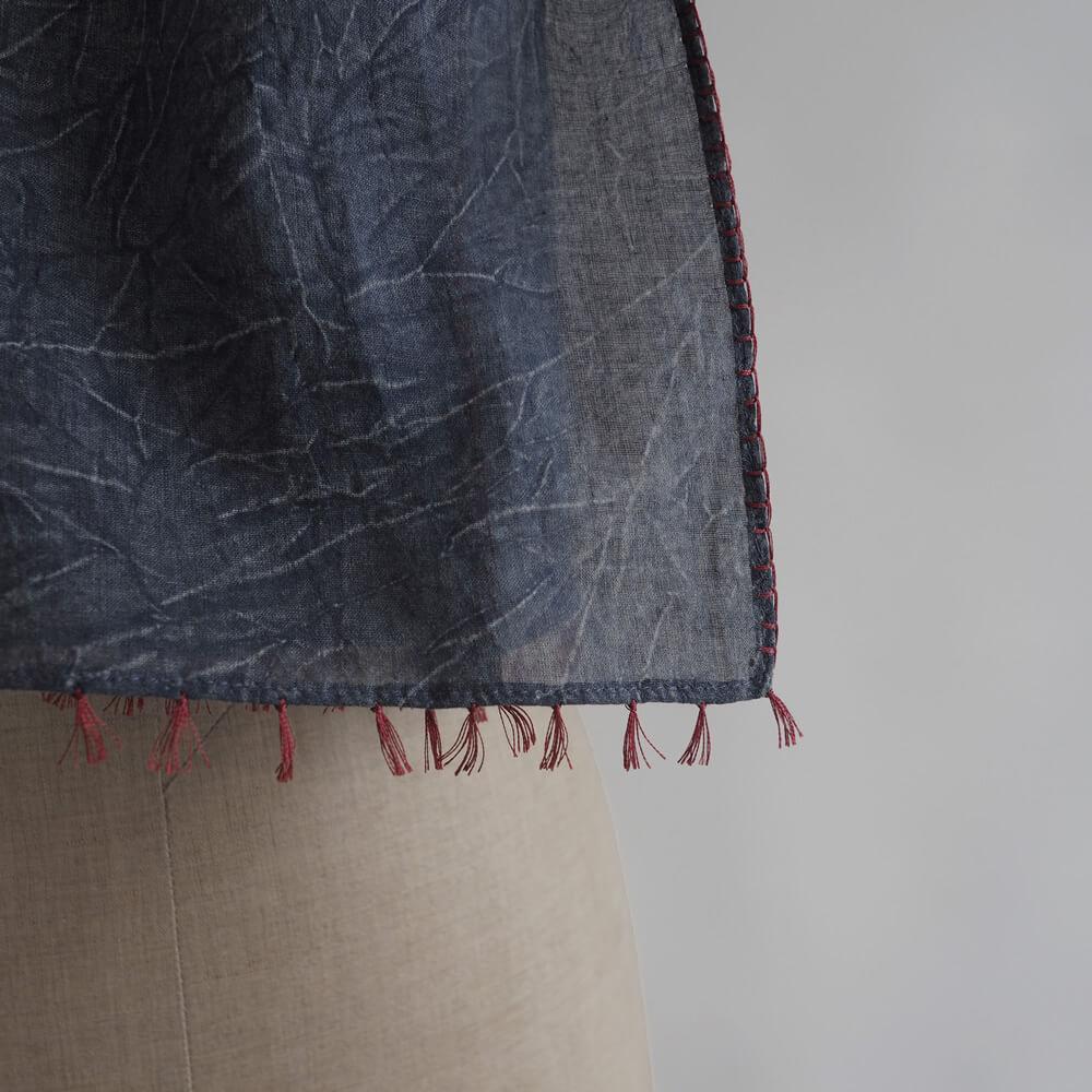 ネルークマール NEERU KUMAR :Cotton Scarves サイドステッチコットンストール