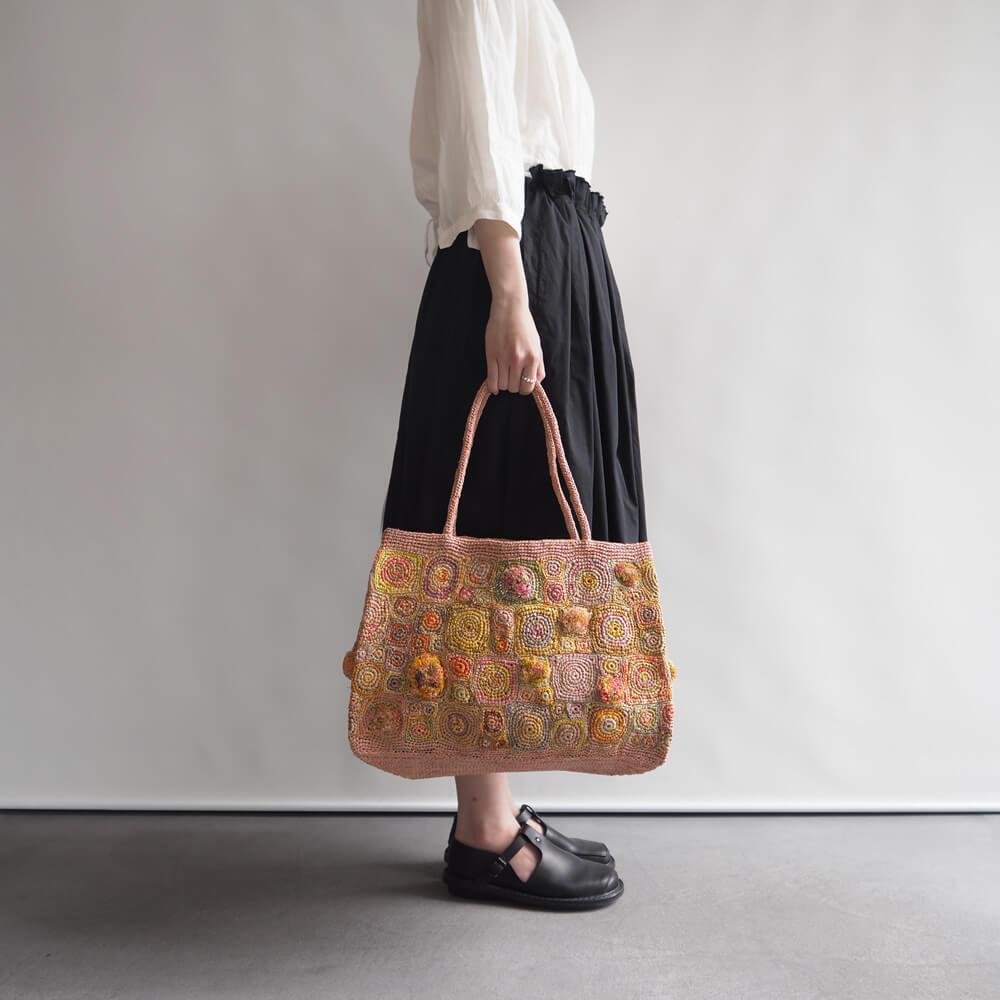 ソフィーディガール Sophie Digard : PATCHWORK RAPHIA BAG パッチワークラフィアバッグ