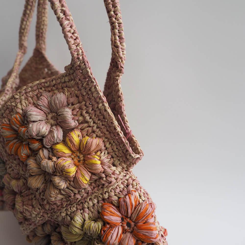 ソフィーディガール Sophie Digard : FLOWER RAPHIA BAG フラワーラフィアバッグ