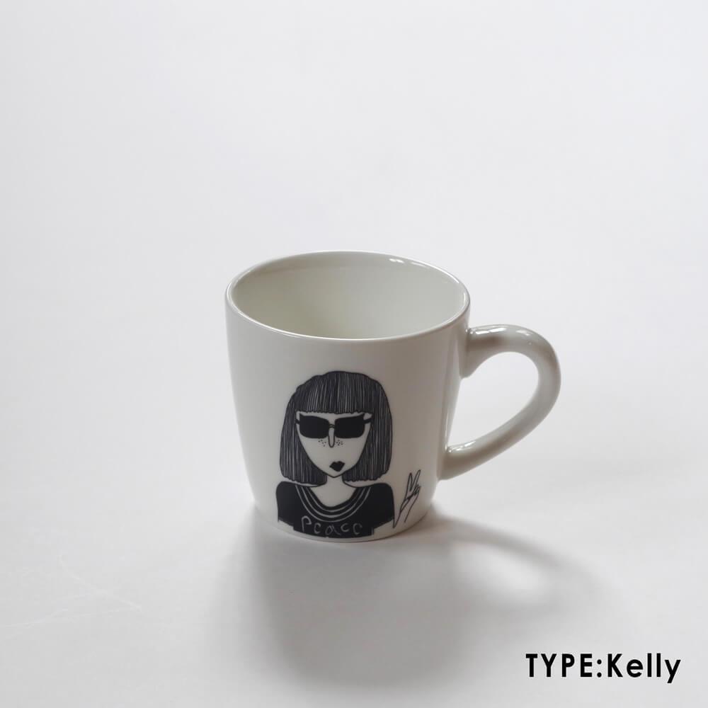 エレンベー helen b : マグカップ(veniceman/kelly/tine)