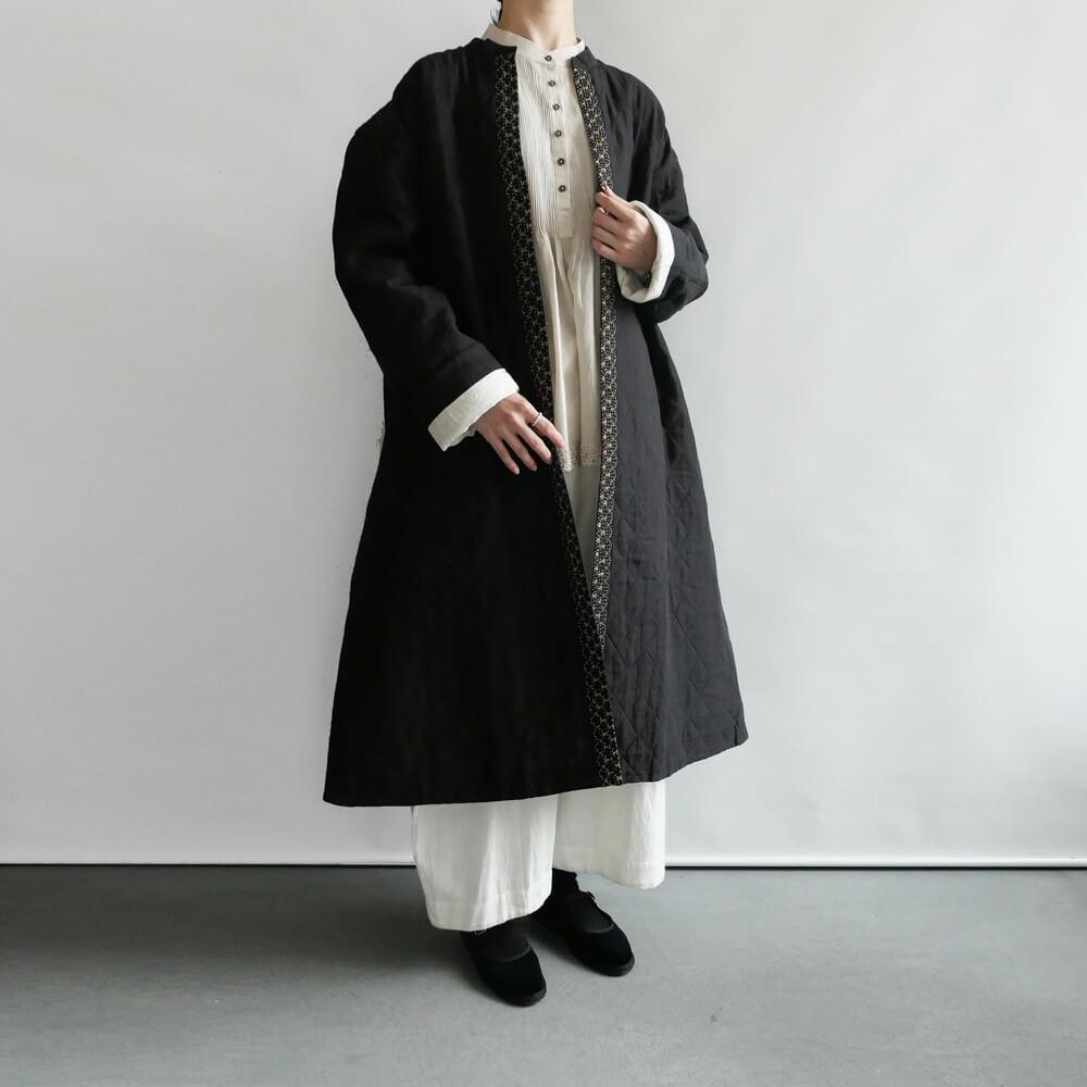 ブノン BUNON : Embroidery QuiltingCoat 刺繍キルティングコート