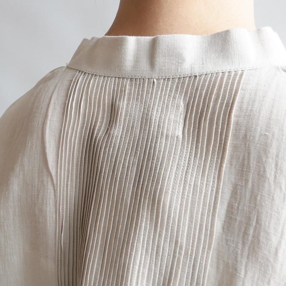 ブノン BUNON : Pintuck Blouse 刺繍入りピンタックブラウス