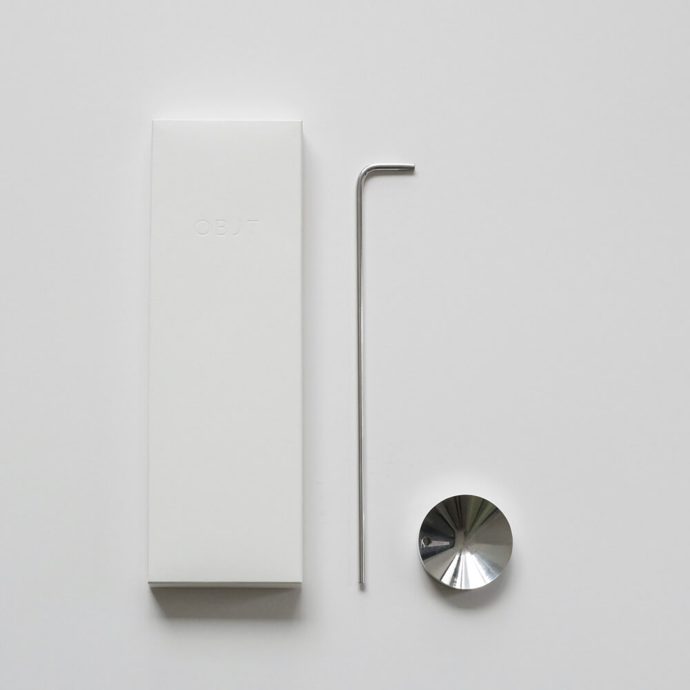 OBJT : Reverse silver お香立て(シルバー)