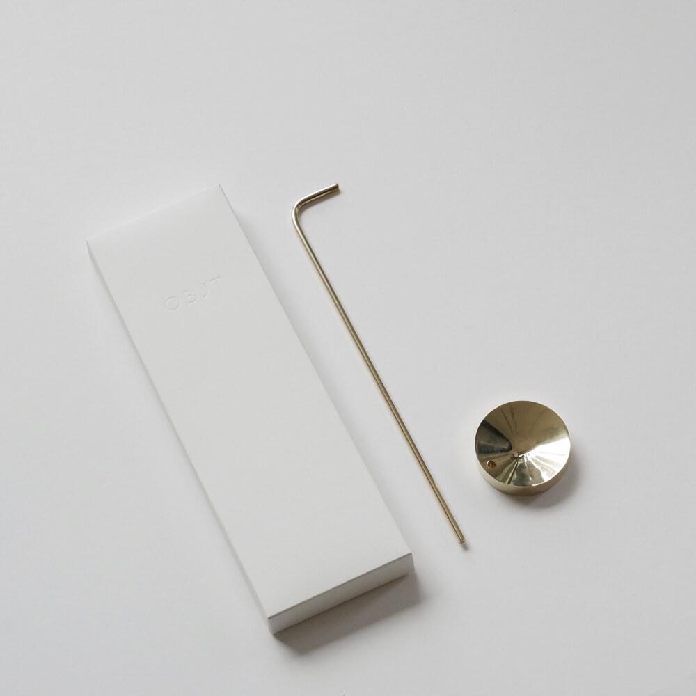 OBJT : Reverse gold お香立て(ゴールド)