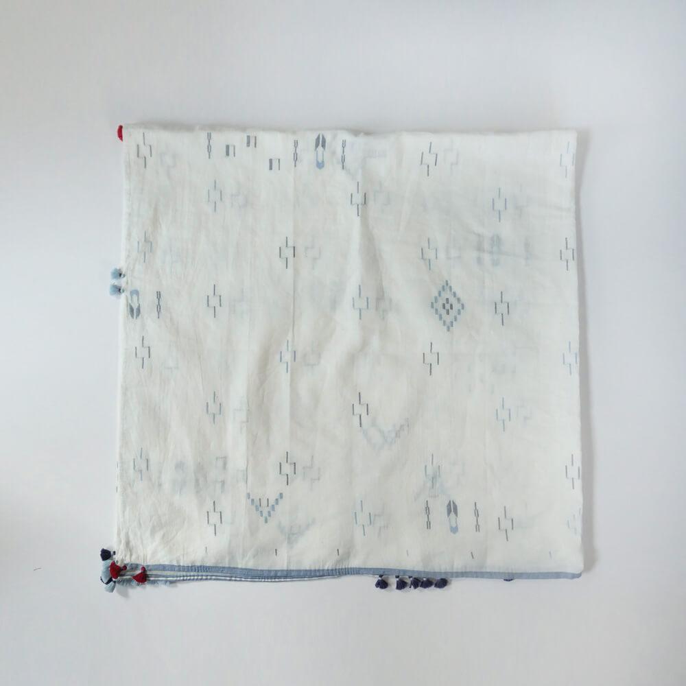インジリ injiri : Neel-84 コットンジャムダニ織りスカーフ