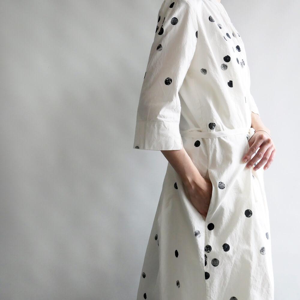 H+ HANNOH WESSEL アッシュプリュス アノーヴェセル: Dress Daniela ドットカシュクールワンピース