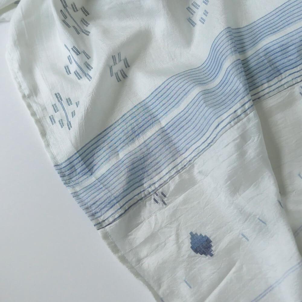 インジリ injiri : Neel-83 ジャムダニ織りシルクストール