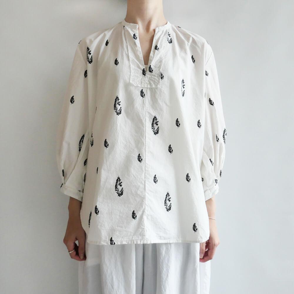 H+ HANNOH WESSEL アッシュプリュス アノーヴェセル: Shirt Celine リーフプリントシャツ