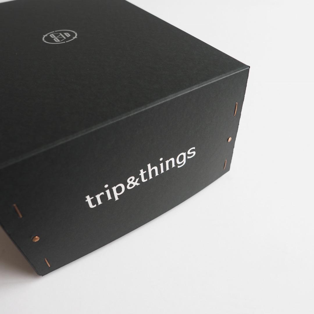 trip&thingsオリジナル レザーシェーカーオーバルボックス