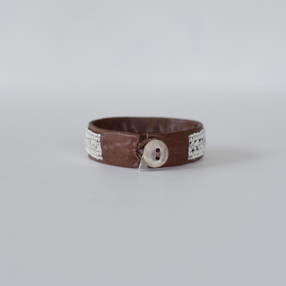 マリアルドマン MARIA RUDMAN : BC48 bracelet (black/nougat) レザーブレスレット