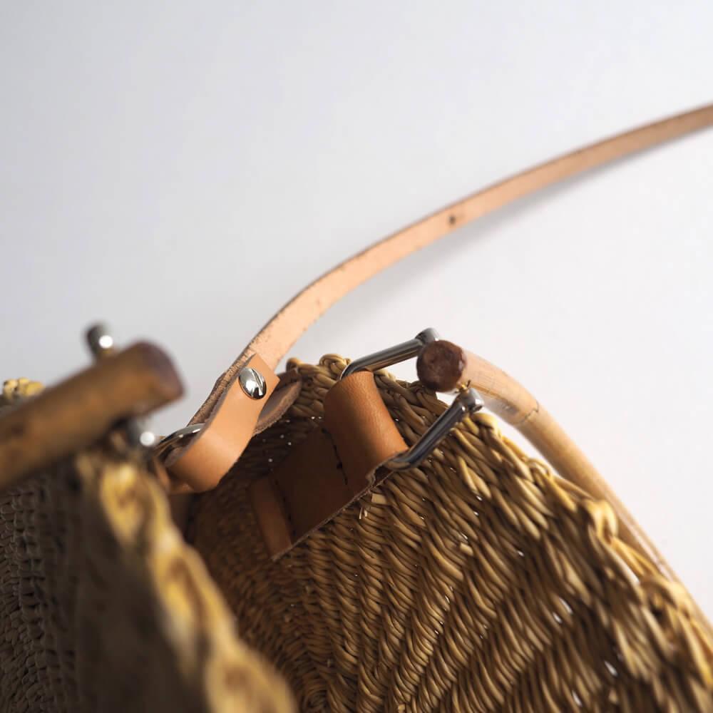 ムーニュ MUUN : ROSI 籐ハンドルかごバッグ