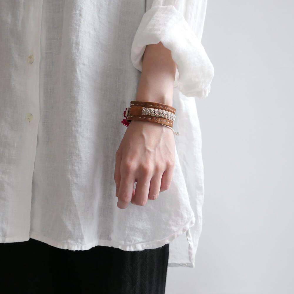 マリアルドマン MARIA RUDMAN : BCH46 bracelet レザーブレスレット