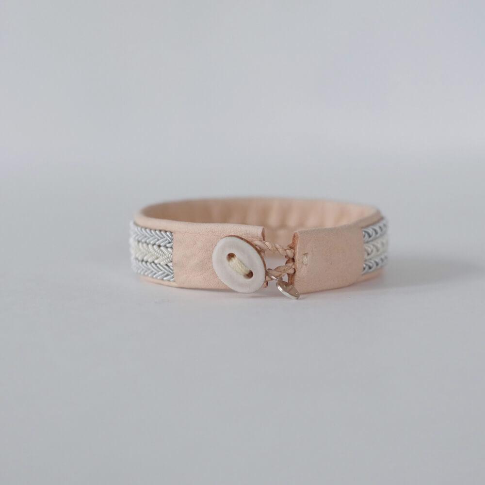マリアルドマン MARIA RUDMAN : B49 bracelet (natural pink) レザーブレスレット