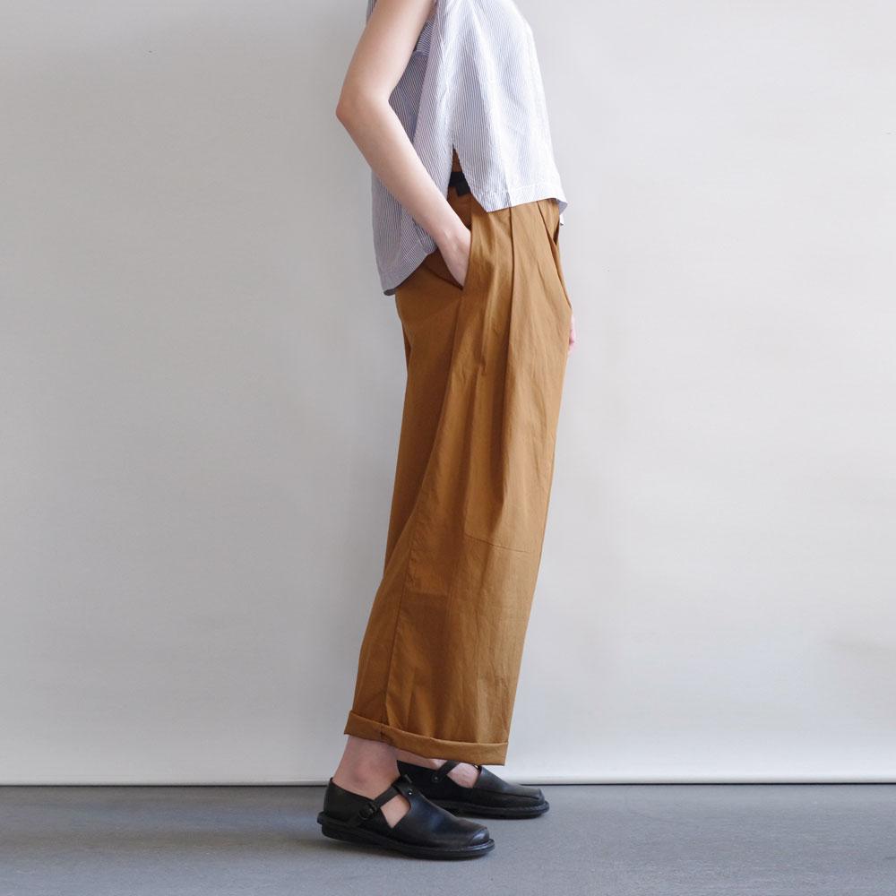 ギャレゴデスポート GALLEGO DESPORTES : large pleated pants,belt loopワイドパンツ(gold)