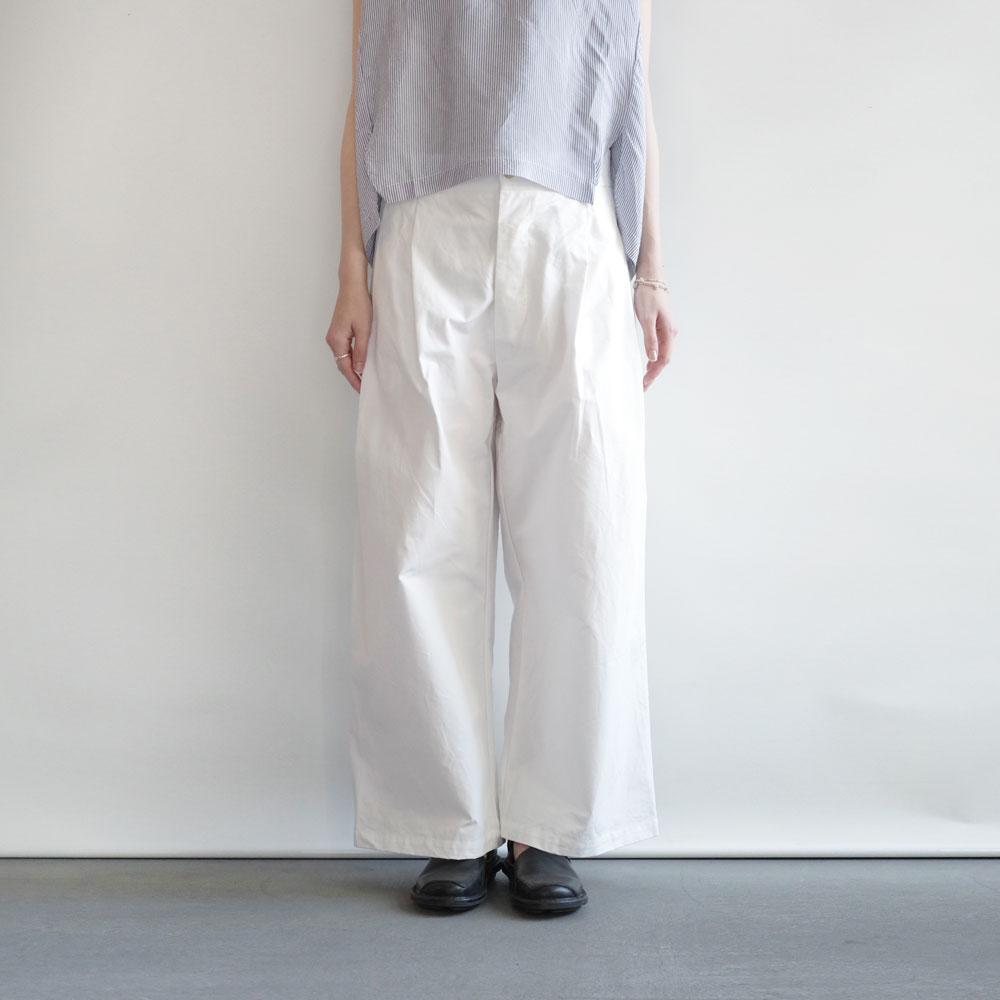 ギャレゴデスポート GALLEGO DESPORTES : large pleated pants,belt loop ワイドパンツ(white)
