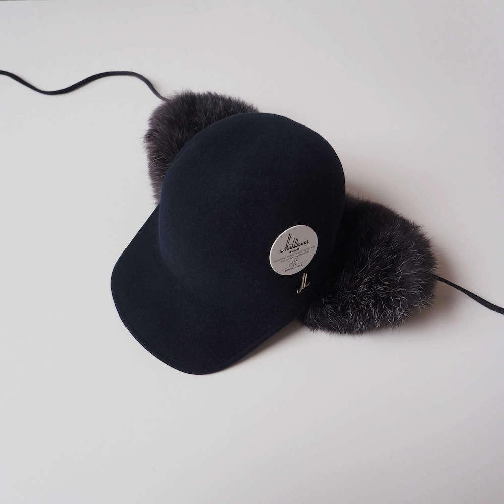 ミュールバウアー Muhlbauer:fur felt and german rabbit cap