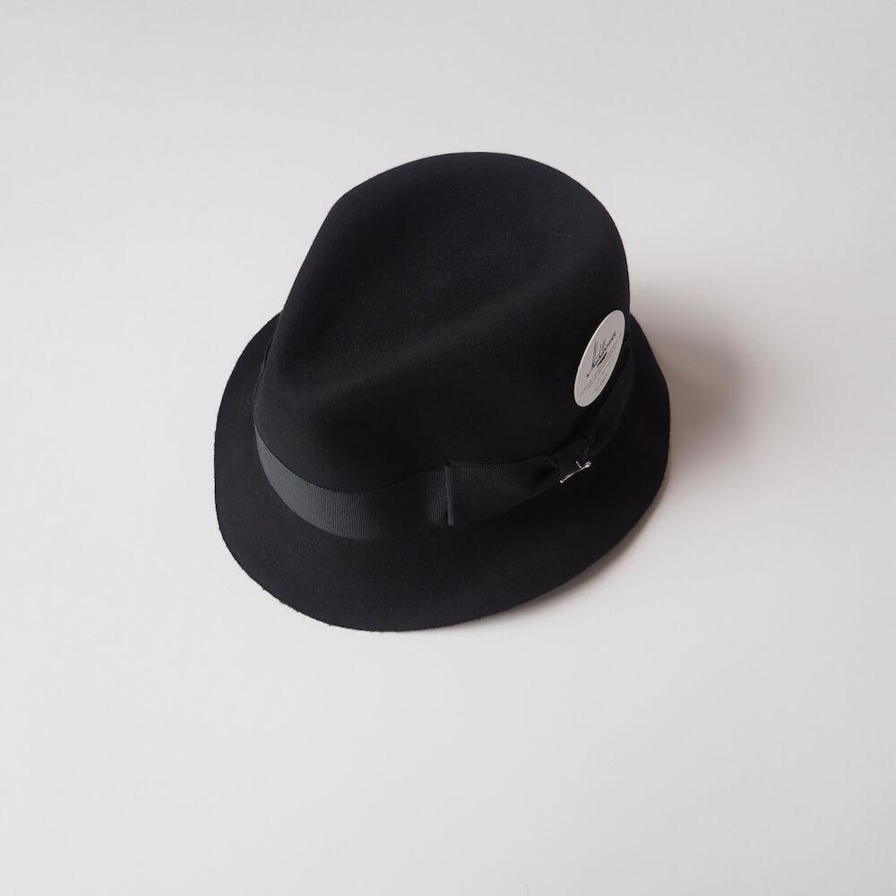 ミュールバウアー Muhlbauer:beaver felt hat dark trilby hat