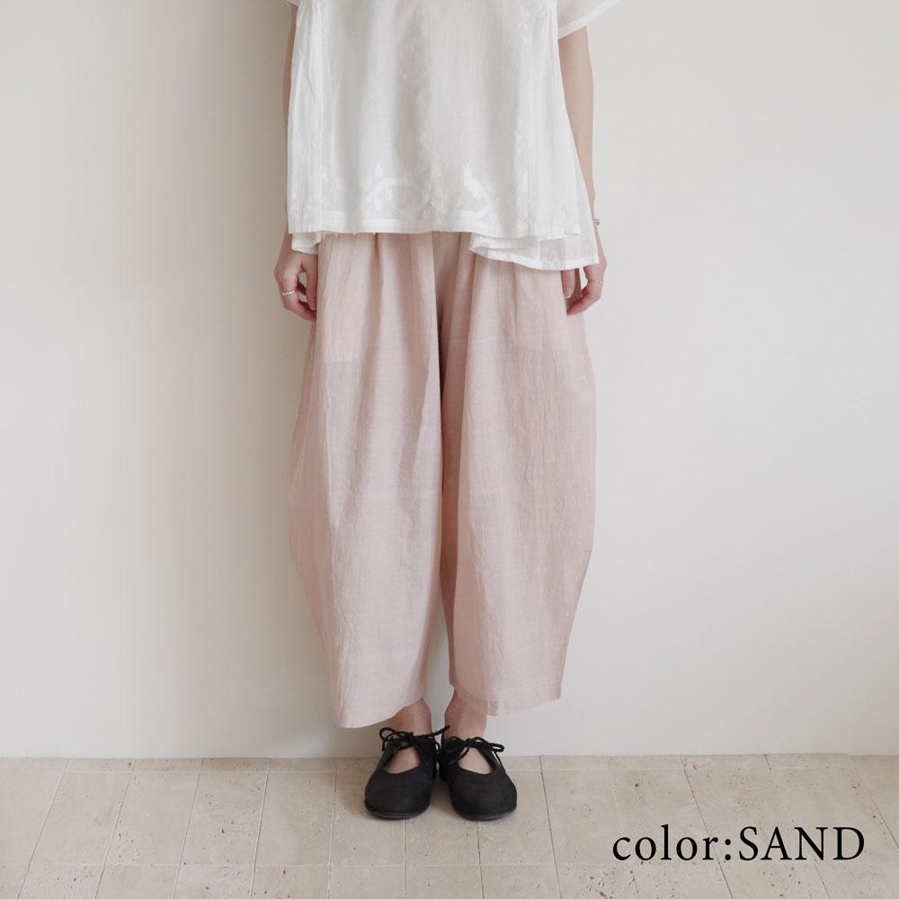 カディー&コー Khadi and Co : STAR コットンイージーパンツ(SAND/BLACK)