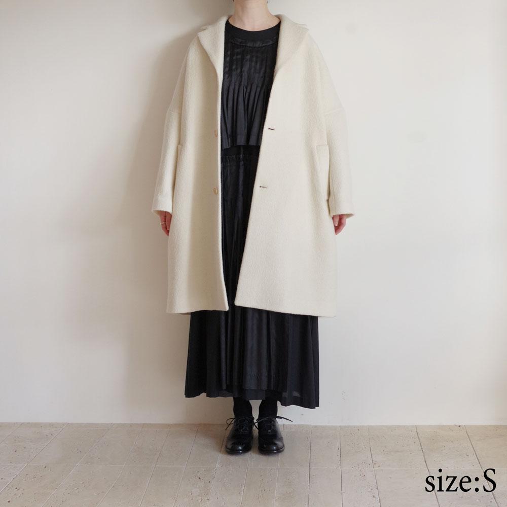 エコールドキュリオジテ ECOLE DE CURIOSITES : COPER boiled wool jersey コート