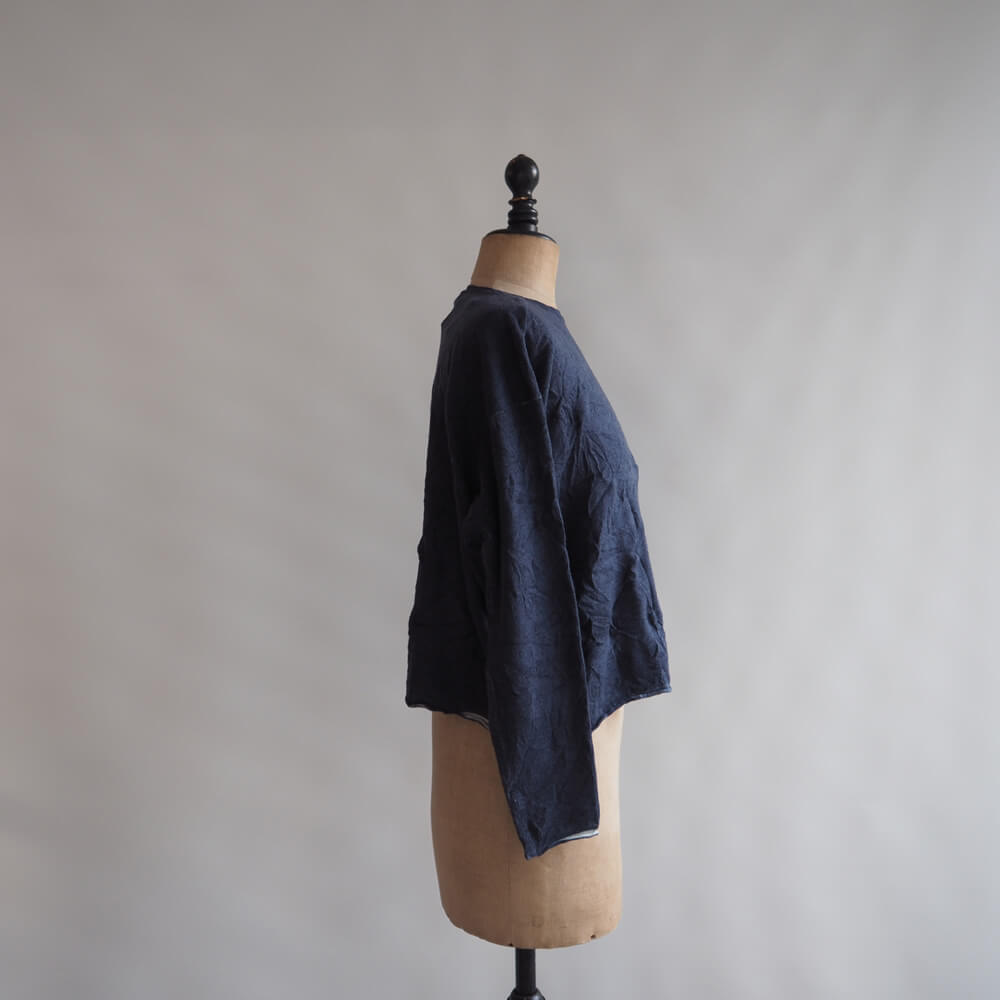 マニュエルギバル Manuelle guibal:KNIT SWEATER OVERSIZE CRINK WOOL