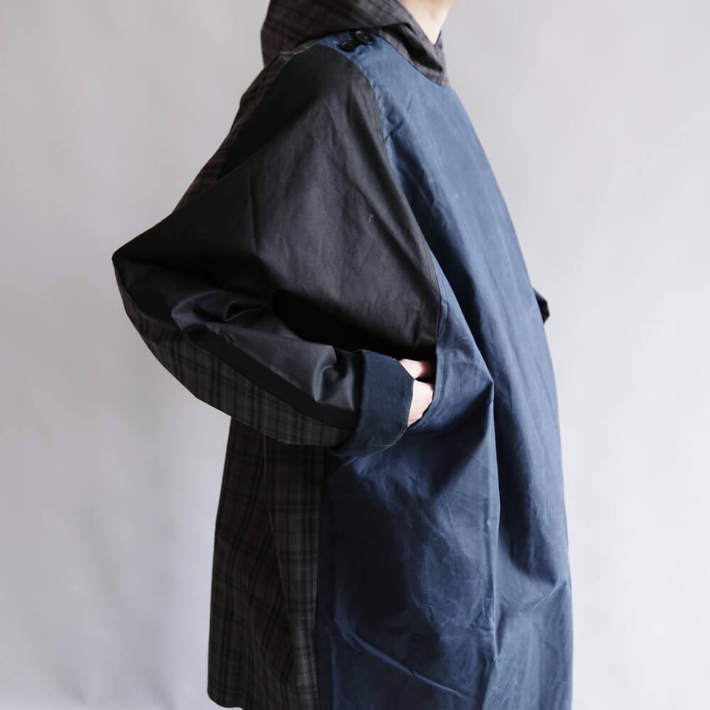 ケイトシェリダン Kate Sheridan : BATWING COAT オイルドコットンコート(TARTAN)