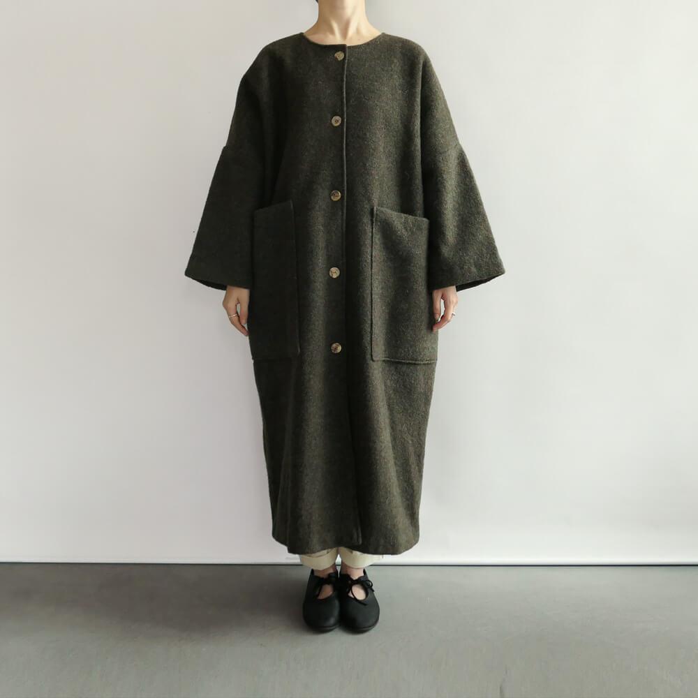 ワーカーズ ノビリティ Worker's Nobility : Pocket coat ウールポケットコート(Moss)