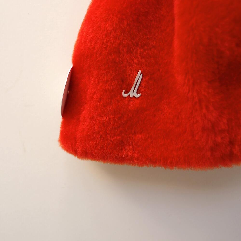 ミュールバウアー Muhlbauer:lamb skin tangerine bonnet cap