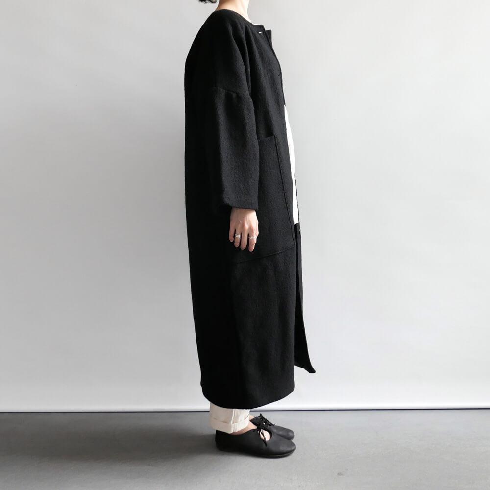 ワーカーズ ノビリティ Worker's Nobility : Pocket coat ウールポケットコート(Black)