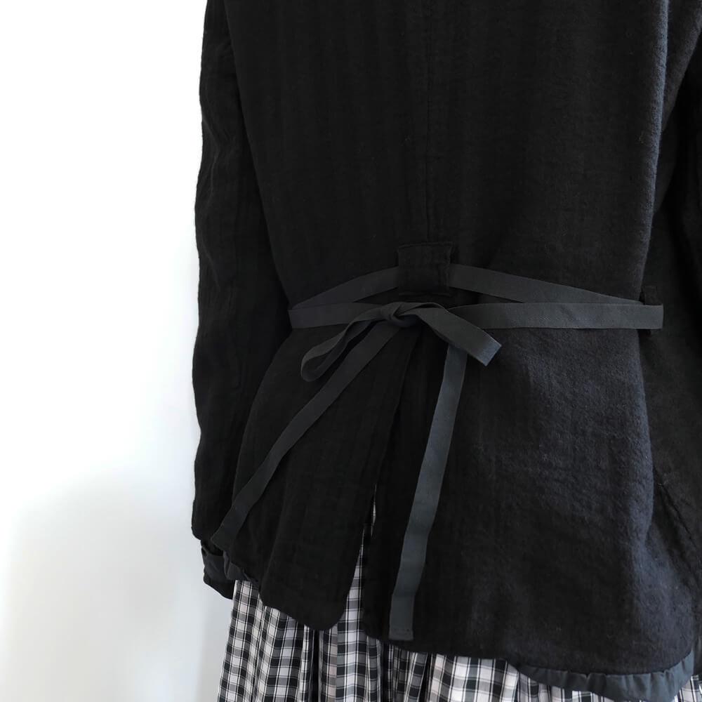 H+ HANNOH WESSEL アッシュプリュス アノーヴェセル : JACKET Virginia ジャケット(ブラック)