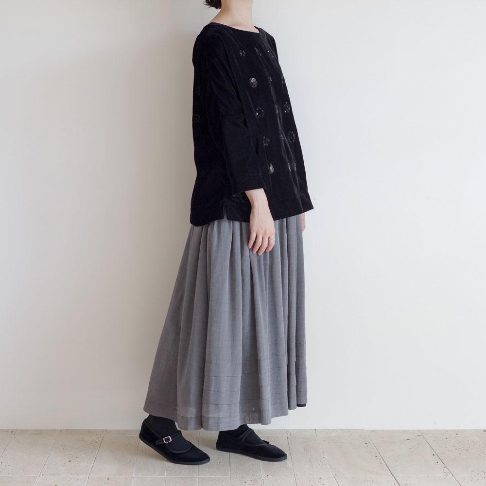 アオドレス AODRESS : velvet 'both specimen' blouse ベルベットブラウス