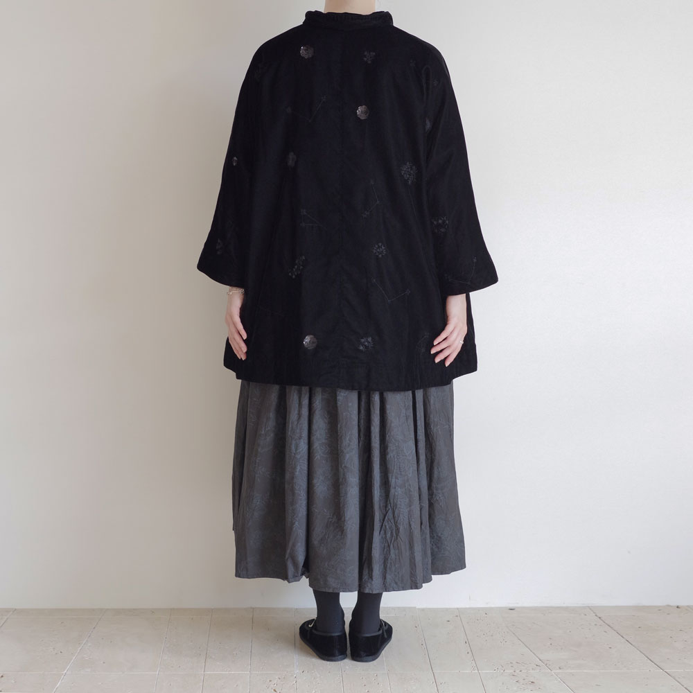 アオドレス AODRESS : velvet 'purana' big coat ベルベットジャケット