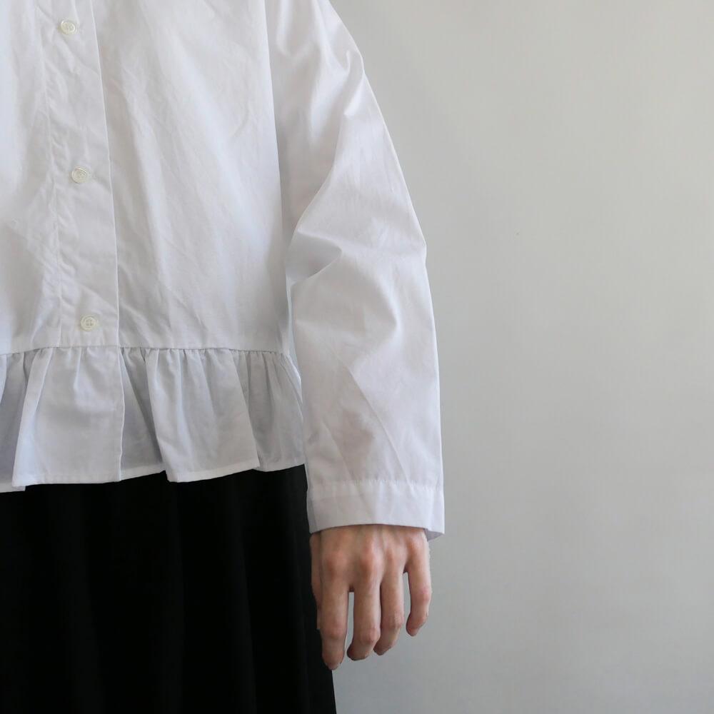 ギャレゴデスポート GALLEGO DESPORTES : shirt with flounced bottom 裾フリルシャツ