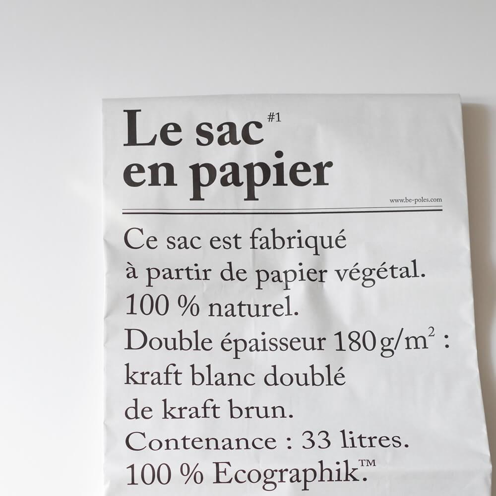 ビーポール be-poles : The paper bag ペーパーバッグ(M)