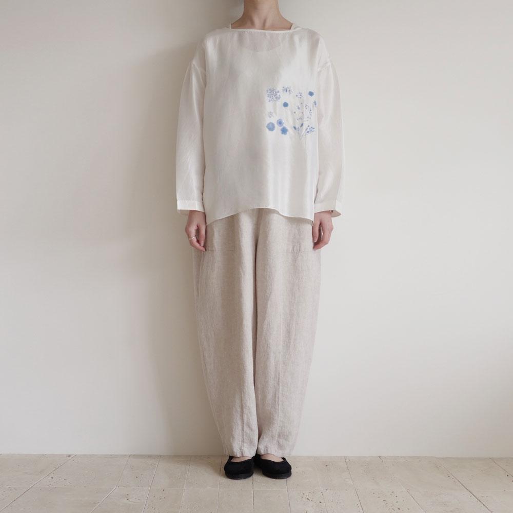 アオドレス AODRESS :'CLOSE PURANA' embroidery blouse シルク刺繍ブラウス
