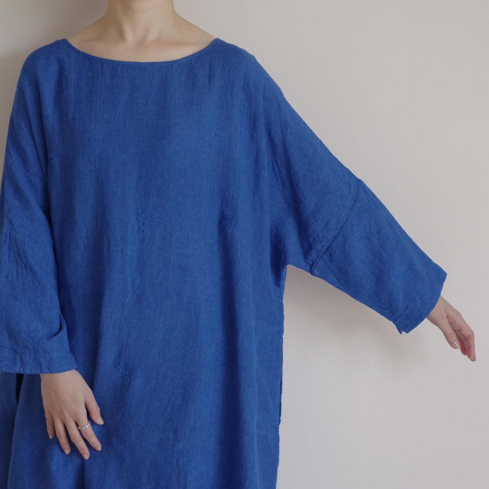 アオドレス AODRESS : Thin linen'PURANA'embroidered dress 刺繍リネンワンピース