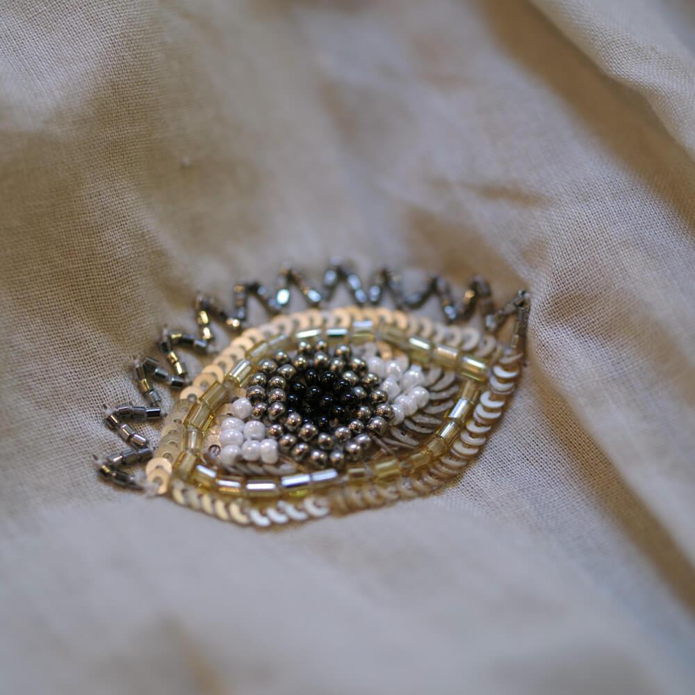 ベナラス BENARAS by citrus : Gold Eye Santorini ビーズ刺繍 チュニック
