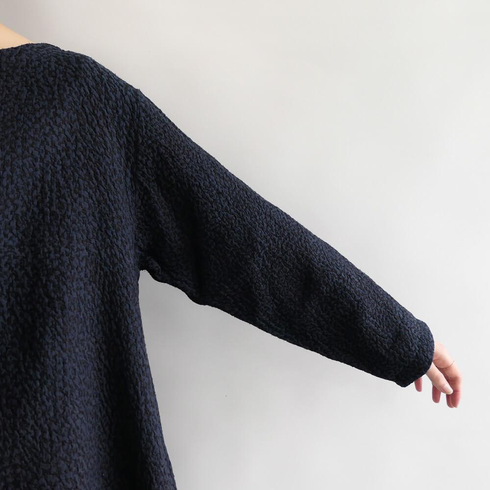 マクテキスタイルズ maku textiles : TARI インディゴ染め刺し子ブラウス